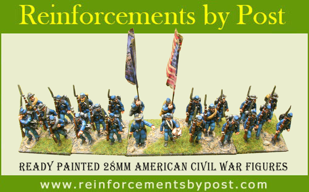 28mm American Civil War Union ready painted figures by Reinforcements by Post in Bangladesh