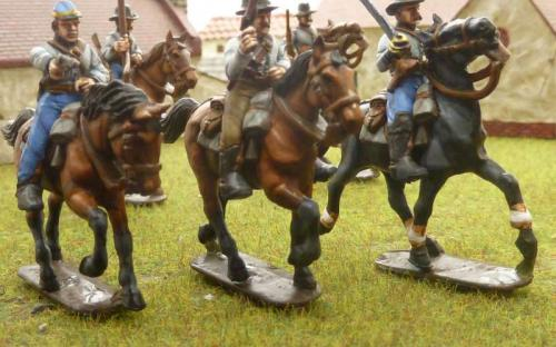 28mm ACW Confederate Cavalry (plastics from Perry miniatures)