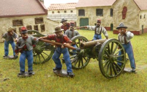 28mm ACW Confederate artillery