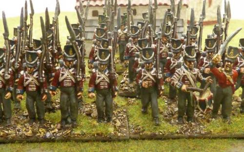 28mm Ready Painted British infantry (Waterloo)