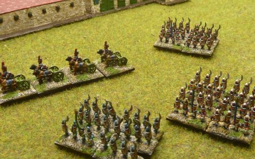 6mm Napoleonic French and Italian Lt infantry + limbers