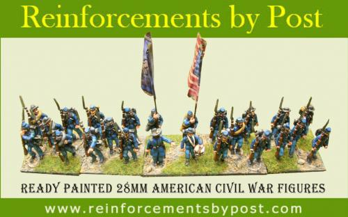 Ready painted 28mm Union infantry