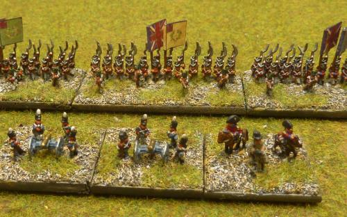 Napoleonic British infantry, guns and Generals