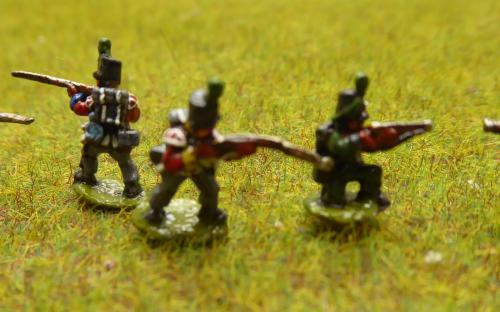 British Lt infantry and Rifles skirmishing