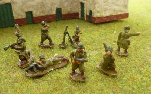 CDAI15 US infantry command + wpns in Great coats.