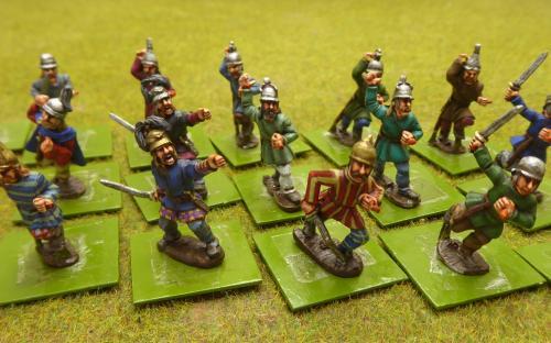 28mm Ancients CWG-6 Gauls Tunics Helmets (Old Glory miniatures)