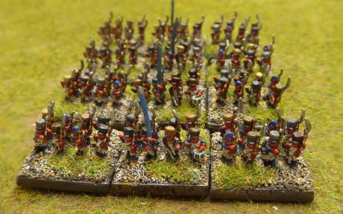 "Napoleonic French infantry (""animated"" sculpts from Baccus miniatures)"