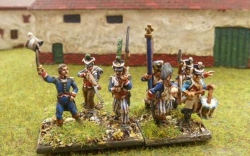 French line infantry (Blue Moon) with AB miniatures light infantry for comparison