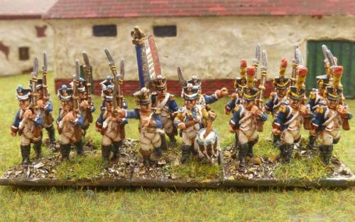 French line infantry in full dress (Blue Moon 18mm figures)