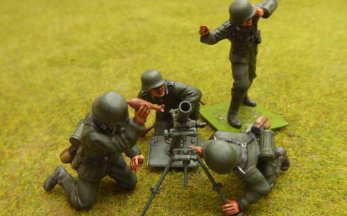German mortar team