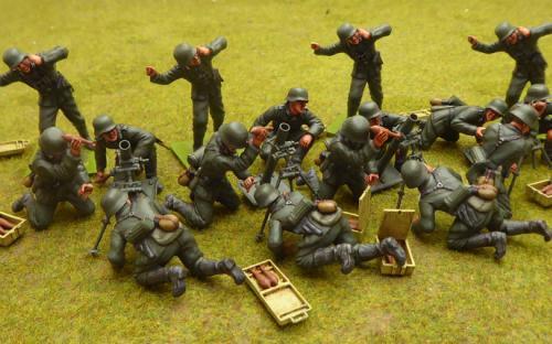 German mortar teams