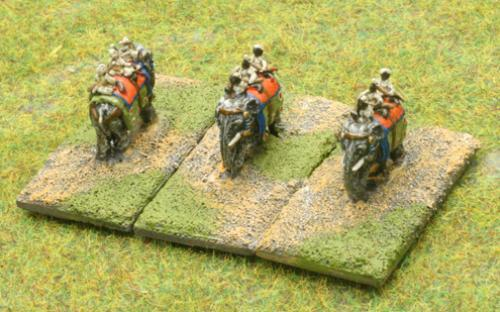 6mm Warmaster Ancients Indian army: Elephants