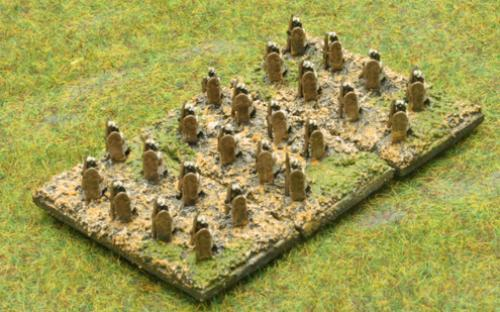 6mm Warmaster Ancients Indian army: Skirmishers