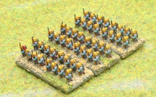 6mm Warmaster Ancients Early Persian army: Persian Infantry
