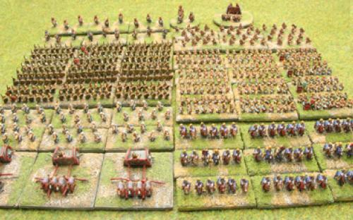6mm Warmaster Ancients Late Persian army: Full army