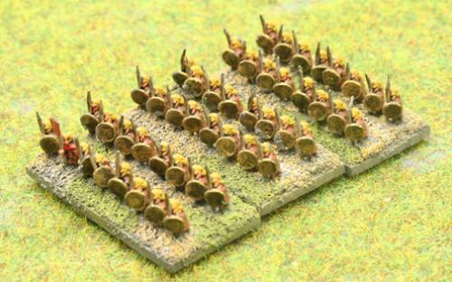 6mm Warmaster Ancients Late Persian army: Hoplites