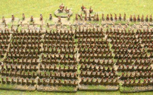6mm Warmaster Ancients Greek army: Full army