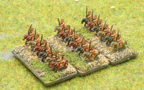 6mm Warmaster Ancients Greek army: Noble cavalry