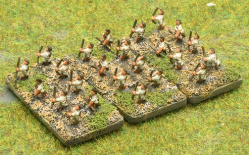 6mm Warmaster Ancients Greek army: Archers