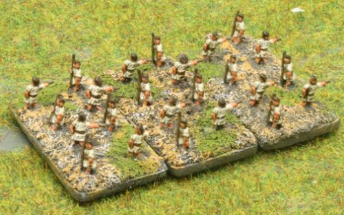 6mm Warmaster Ancients Greek army: Javelins