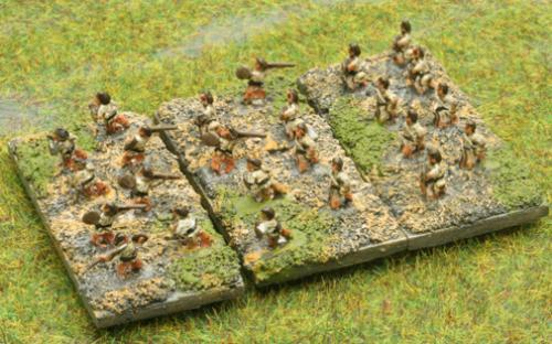 6mm Warmaster Ancients Imperian Roman army: skirmishers
