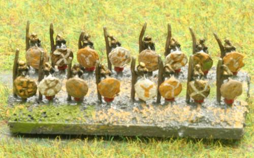 6mm Warmaster Ancients Carthaginian army: African infantry