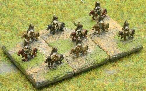 6mm Warmaster Ancients Carthaginian army: Numidian light cavalry
