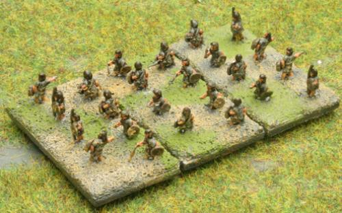 6mm Warmaster Ancients Carthaginian army: Skirmishers