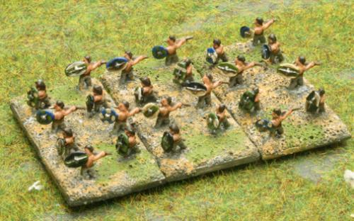6mm Warmaster Ancients German army: Skirmishers