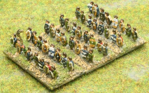 6mm Warmaster Ancients German army: Warriors