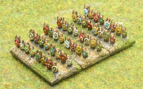 6mm Warmaster Ancients Dacian army: Warriors