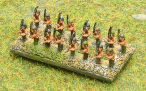 6mm Warmaster Ancients Dacian army: Flaxmen