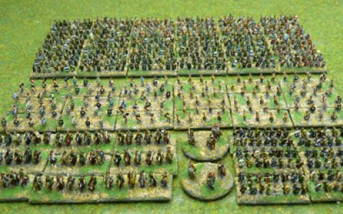 6mm Warmaster Ancients German army: Full army
