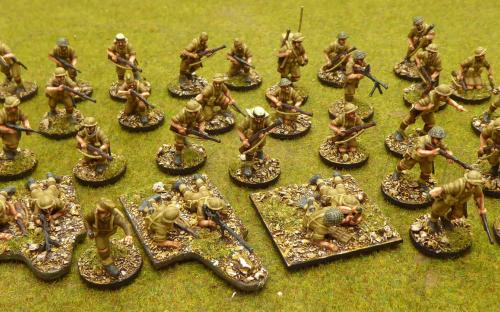 28mm WW2 British Desert Rats (Perry miniatures plastics)