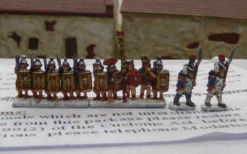 10mm Ancient Romans and some Napoleonic French Guard samples