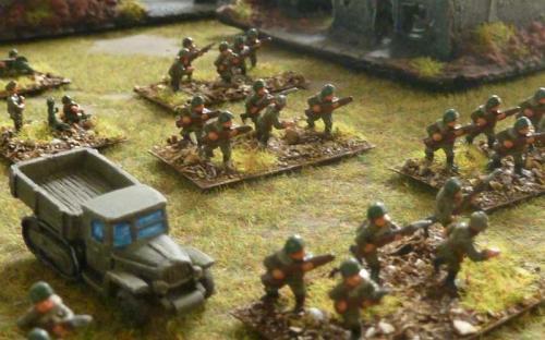 10mm WW2 BKC17 Russian Motorised Infantry Battalion