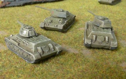 T34/76 and T34/85s