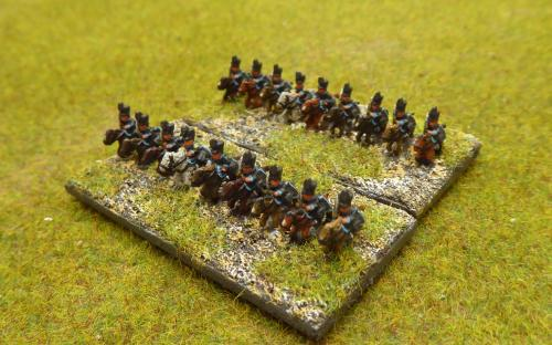 6mm Napoleonic Brunswick light cavalry (Baccus miniatures)