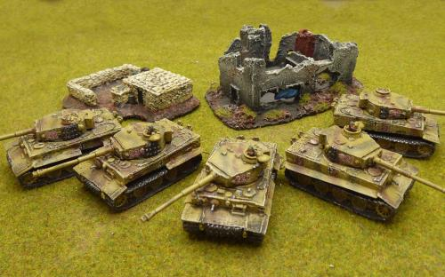 15mm WW2 Tiger Tank Company with Wittman (Flames of War)