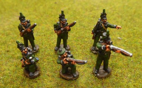 15mm Napoleonic British rifles