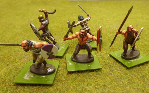 28mm Ancient Dacian Falxmen (Warlord Games).