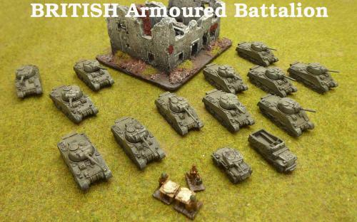 10mm BKC WW2 British Armoured battalion