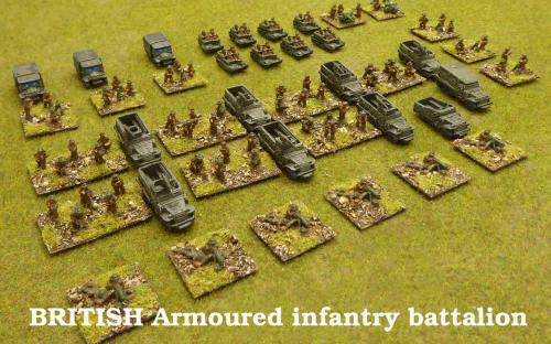 10mm BKC WW2 British Armoured infantry battalion