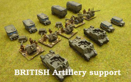 10mm BKC WW2 British artillery support