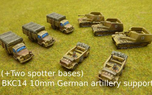 BKC14 10mm German artillery support (Pendraken miniatures)