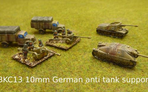 BKC13 10mm German anti-tank support (Pendraken miniatures)
