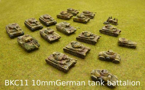 BKC11 10mm German tank battalion (Pendraken miniatures)