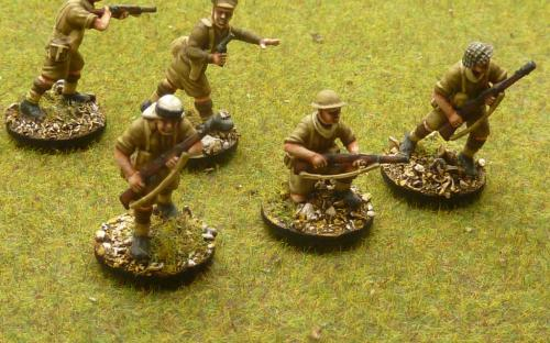 28mm WW2 Desert Rats. These are Perry miniatures plastics.