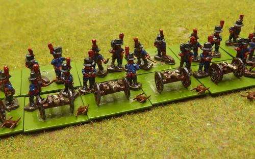 10mm Napoleonic Spanish foot artillery (Magister Militum miniatures)