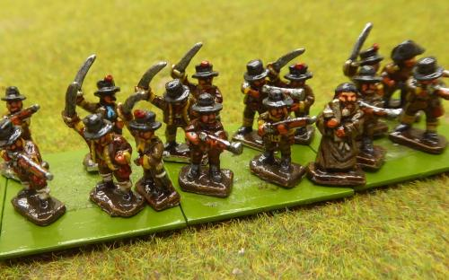 10mm Napoleonic Spanish Guerillas (Magister Militum miniatures)